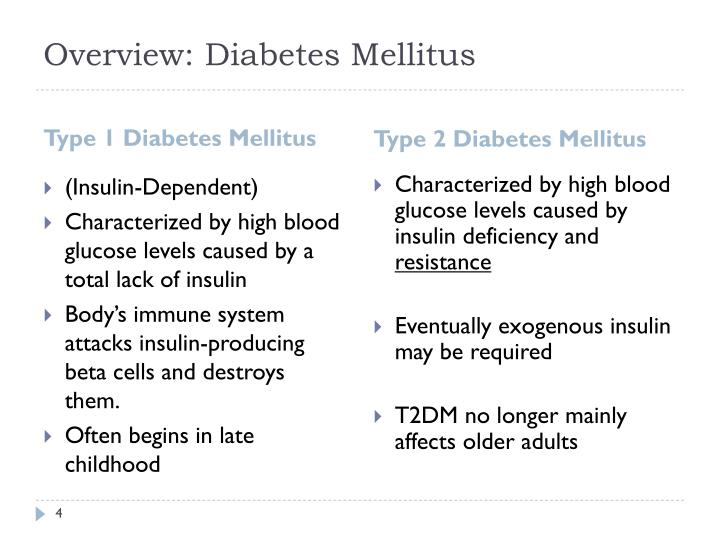 Overview: Diabetes Mellitus