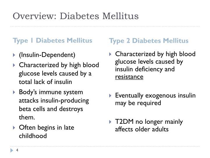 Overview: Diabetes Mellitus
