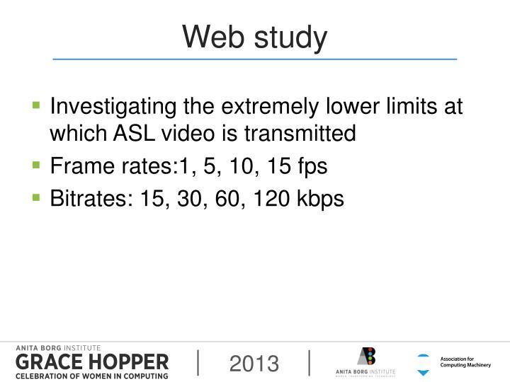 Web study