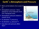 earth s atmosphere and pressure