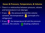 gases pressure temperature volume1