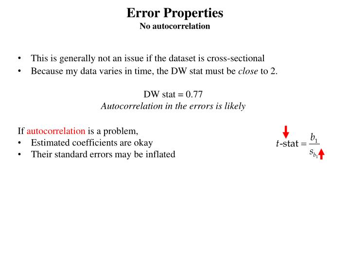 Error Properties