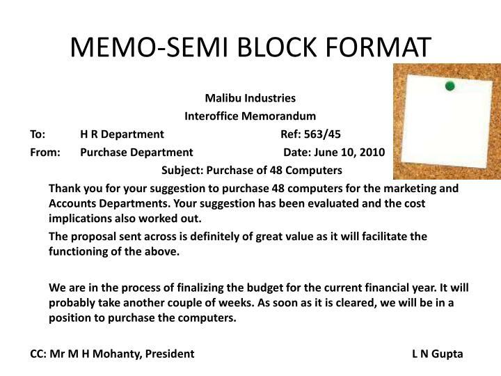 format for memorandum
