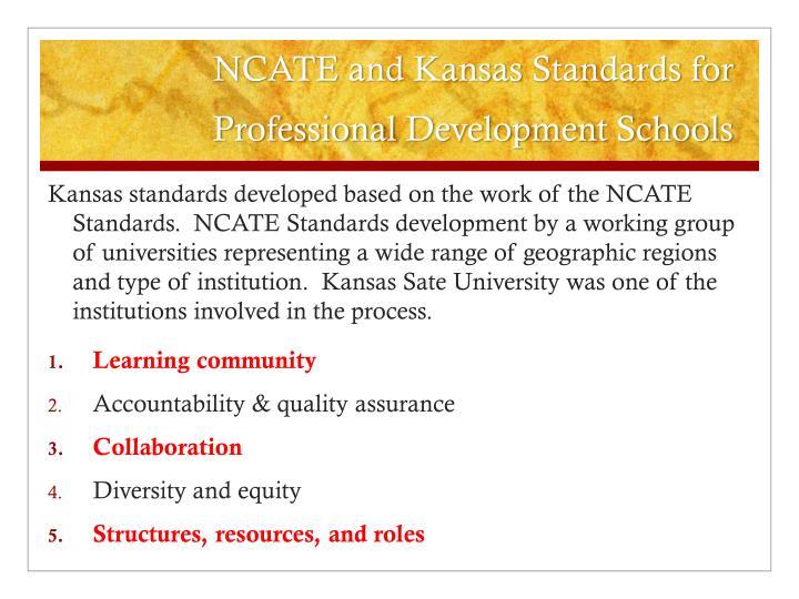 NCATE and Kansas