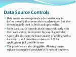 data source controls