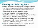 filtering and selecting data
