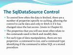 the sqldatasource control3