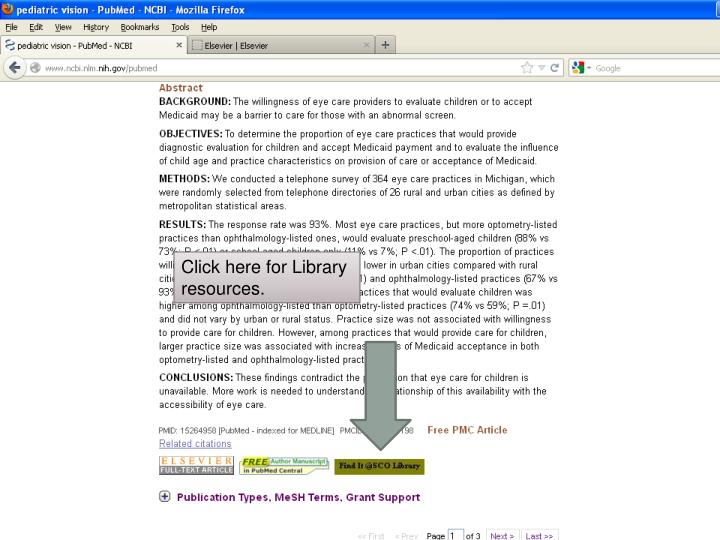 Click here for Library resources.