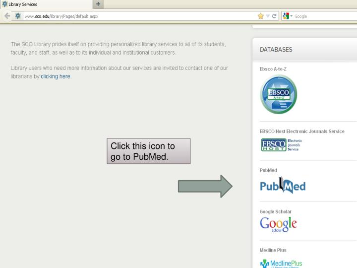 Click this icon to go to PubMed.