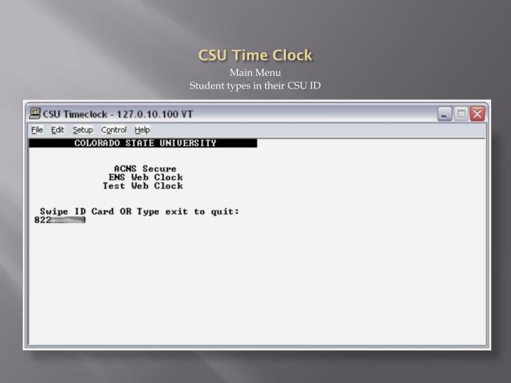 CSU Time Clock