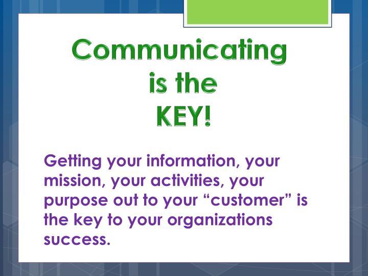 Communicating