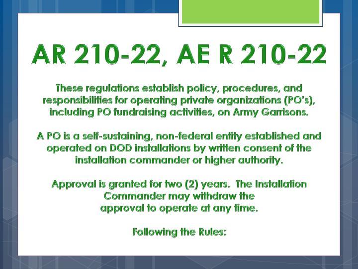 AR 210-22, AE R 210-22