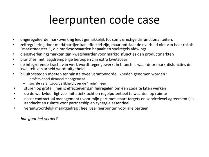 leerpunten code case