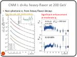 cnm i d au heavy flavor at 200 gev