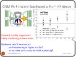cnm iv forward backward m from hf decay