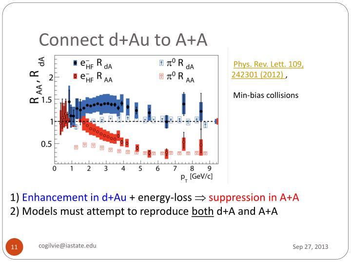 Connect d+Au to A+A