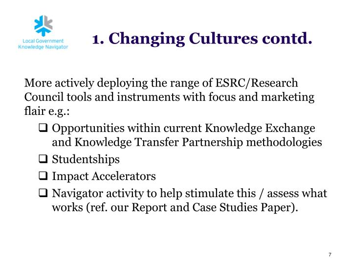 More actively deploying the range of ESRC/