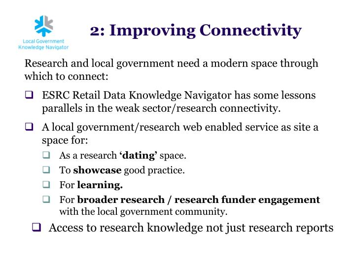 Research and local government need a modern space through which to connect: