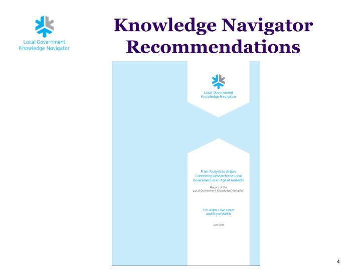 Knowledge Navigator Recommendations