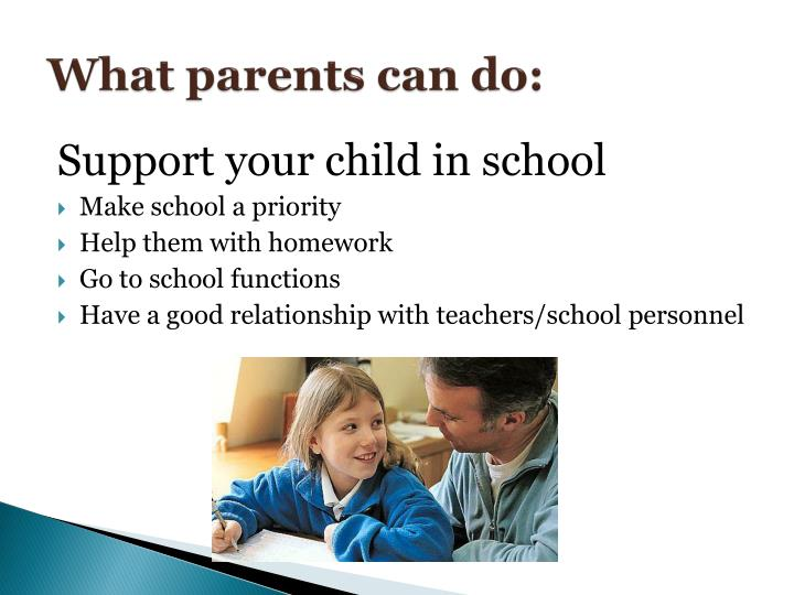 What parents can do: