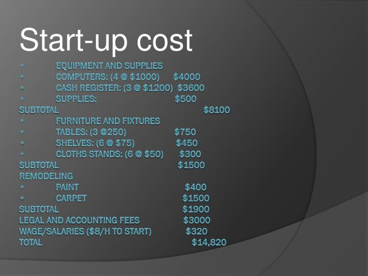 Start-up cost