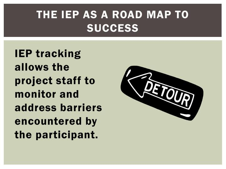 The IEP as a road map to Success