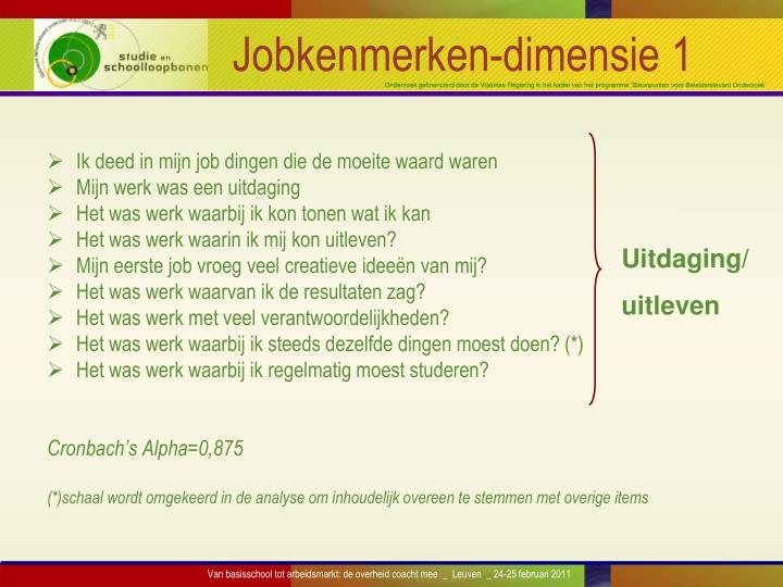 Jobkenmerken-dimensie 1