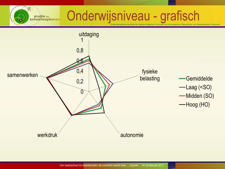 Onderwijsniveau - grafisch