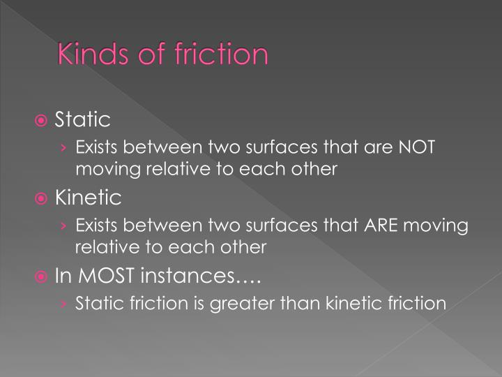 Kinds of friction