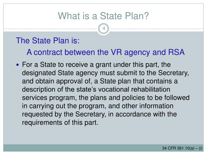 What is a State Plan?