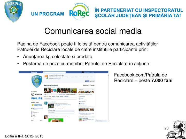 Comunicarea social media