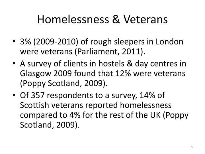 Homelessness & Veterans
