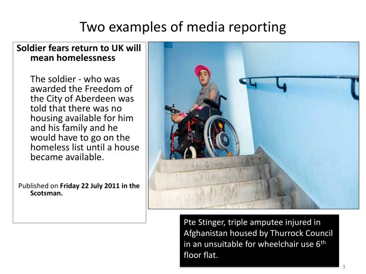 Two examples of media reporting