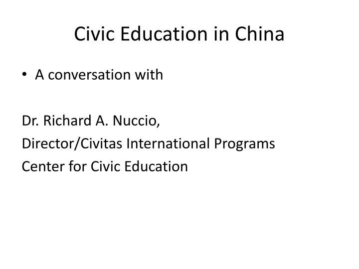 Civic education in china