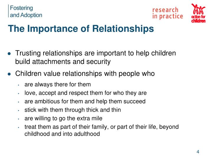 The Importance of Relationships