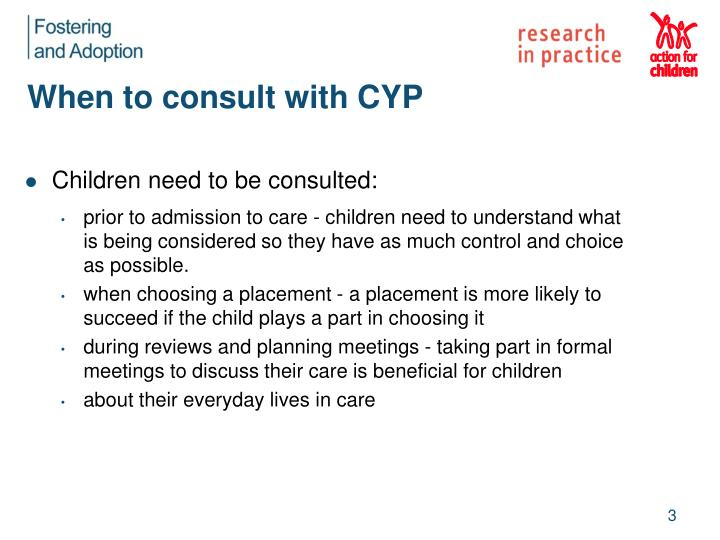 When to consult with cyp