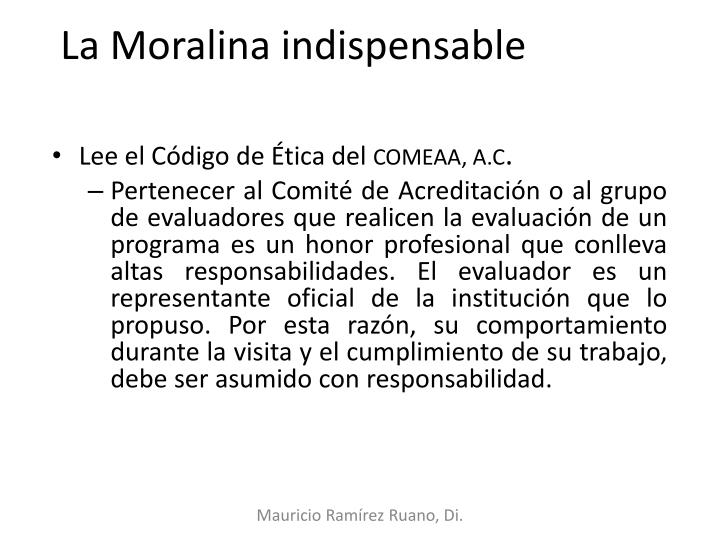 La Moralina indispensable