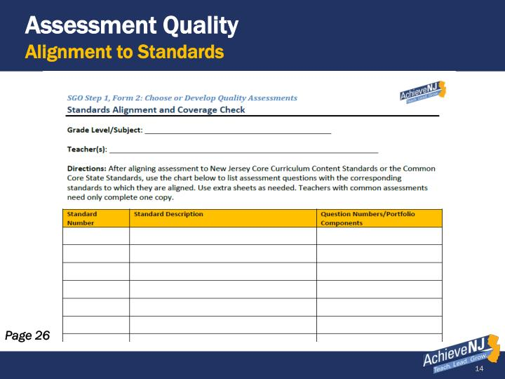 Assessment Quality