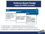 evidence based design apply the parcc process