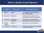 what is a student growth objective
