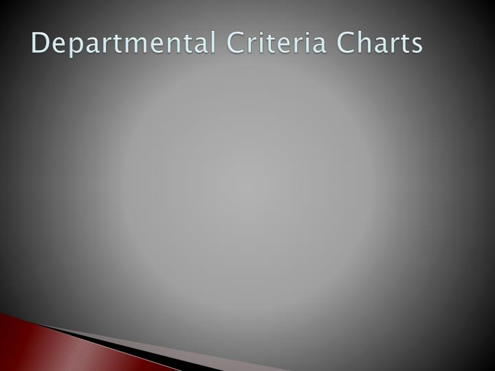 Departmental Criteria Charts