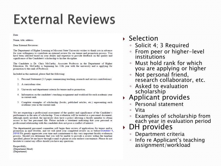 External Reviews