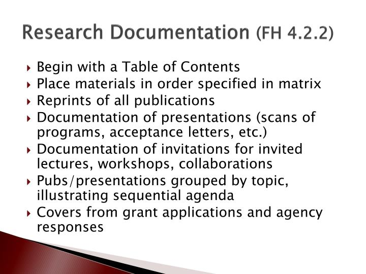 Research Documentation