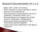 research documentation fh 4 2 2