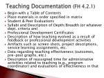 teaching documentation fh 4 2 1