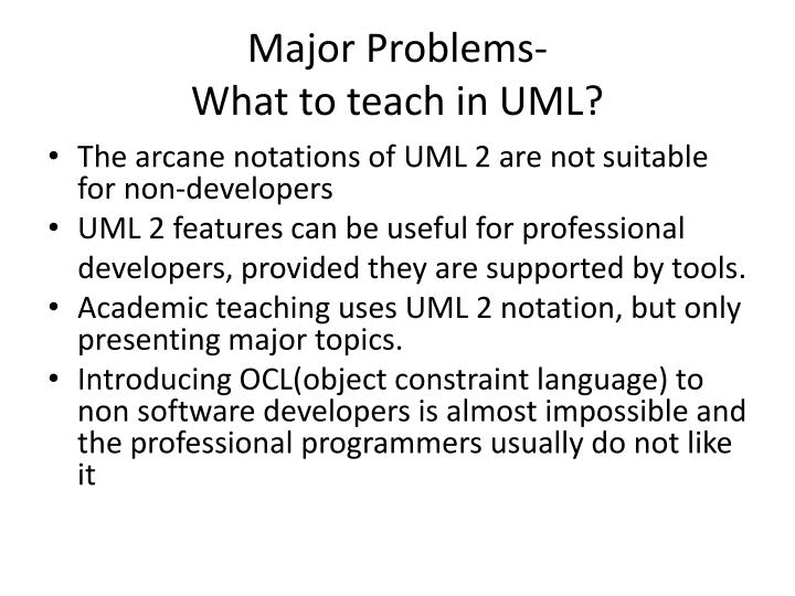 Major Problems-