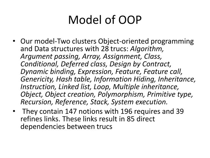 Model of OOP