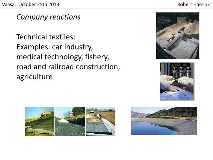 Company reactions