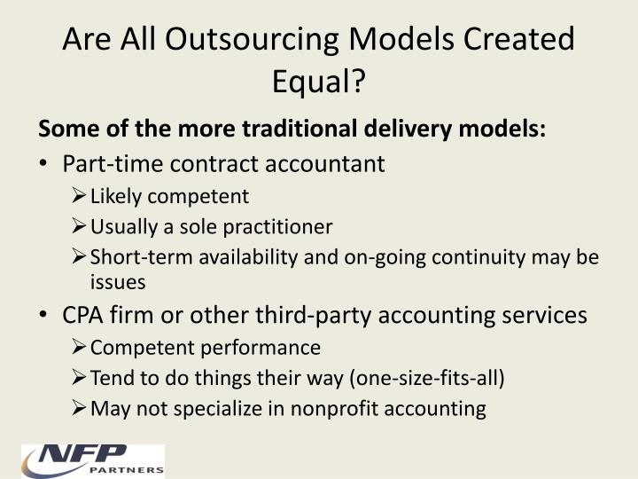 Are All Outsourcing Models Created Equal?