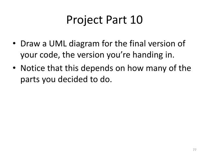 Project Part 10